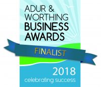 Adur and Worthing Business Awards 2018 Finalist logo